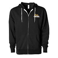 Black Unisex Full-Zip Hooded Sweatshirt